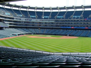 Progressive Field is empty once again...